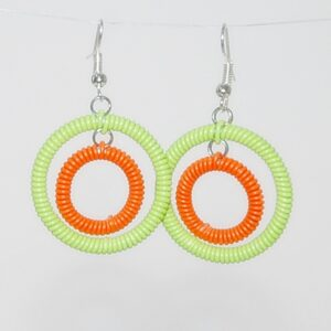 Earrings in African Brights.