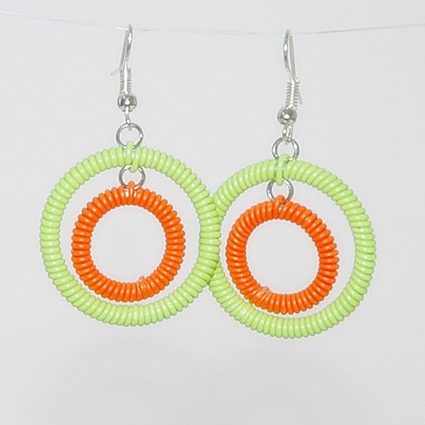 Earrings in African Brights.