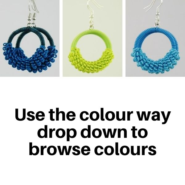 US1200TC Earrings in Tonal Colours.