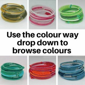 US20MC Bracelets in Multi colourways