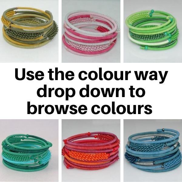 US20MC Bracelets in Multi colourways