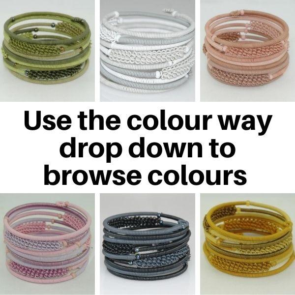US20TC Bracelets in Tonal colours.