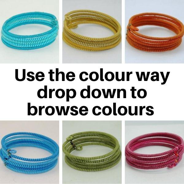 US21TC Bracelets in Stripy Tonal Colours.