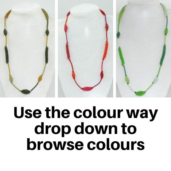 Necklace Scoobie wire coiled short - Multi Colour Way