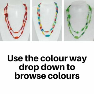 Necklace Scoobie wire Coiled Bobbles and Beads in Multi Colour Way