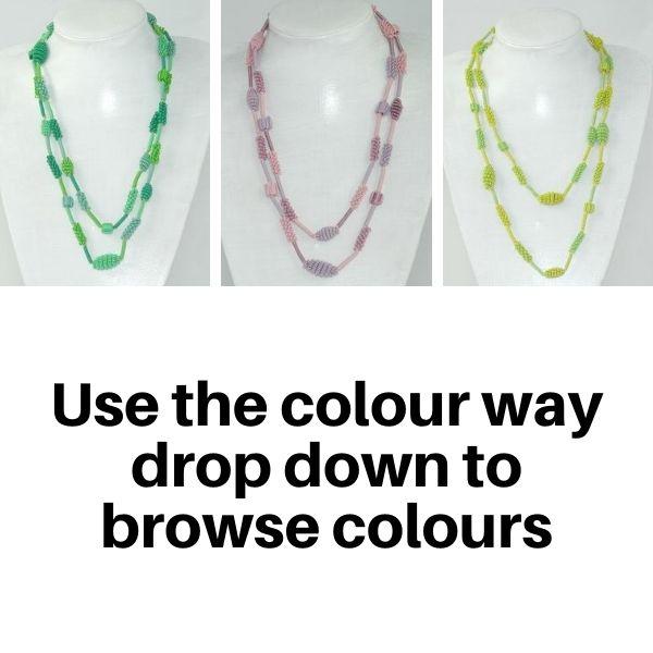 US858TC Necklaces in Tonal colour ways.